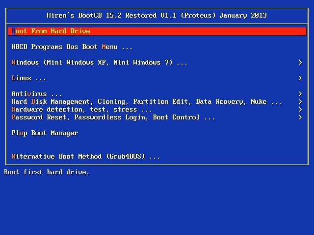 Hirens Boot DVD